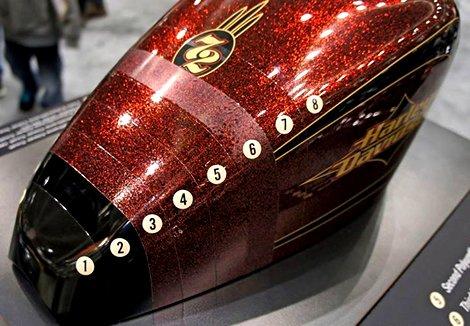 Réservoir Harley Davidson  72 hard candy flakes