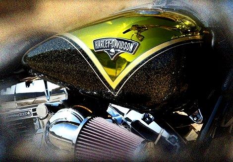 Réservoir Harley Davidson  Breackout hard candy flakes